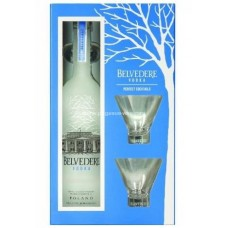 Belvedere Vodka - Original (With 2 Cocktail Glasses)
