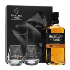 Highland Park 12 Years Single Malt Scotch Whisky (2 Glass Pack)
